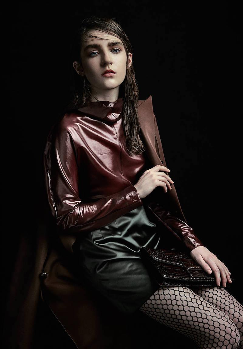 Nina Ricci High Waisted Silk Duchesse Skirt