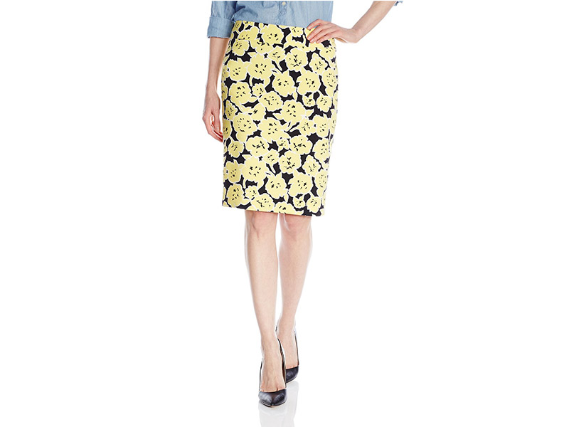 Nine West Printed Floral Skirt