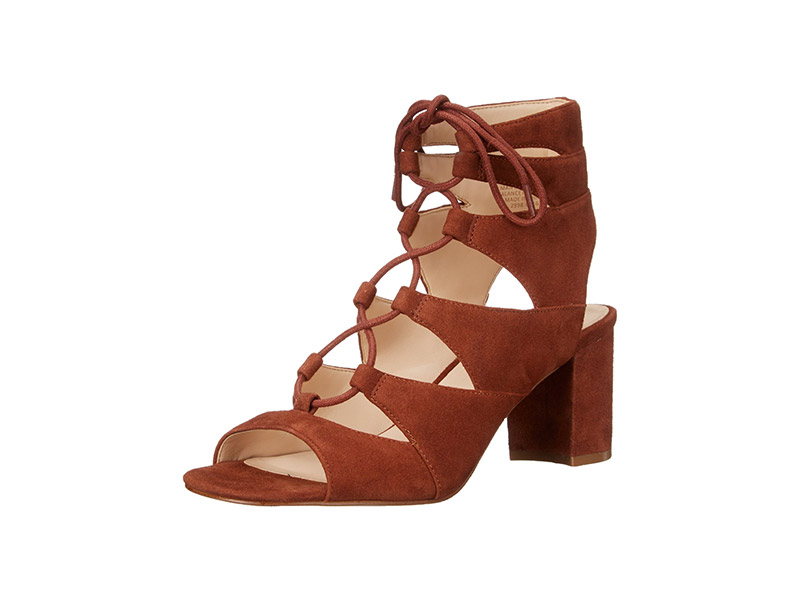Nine West Takeitup Suede Heeled Sandal