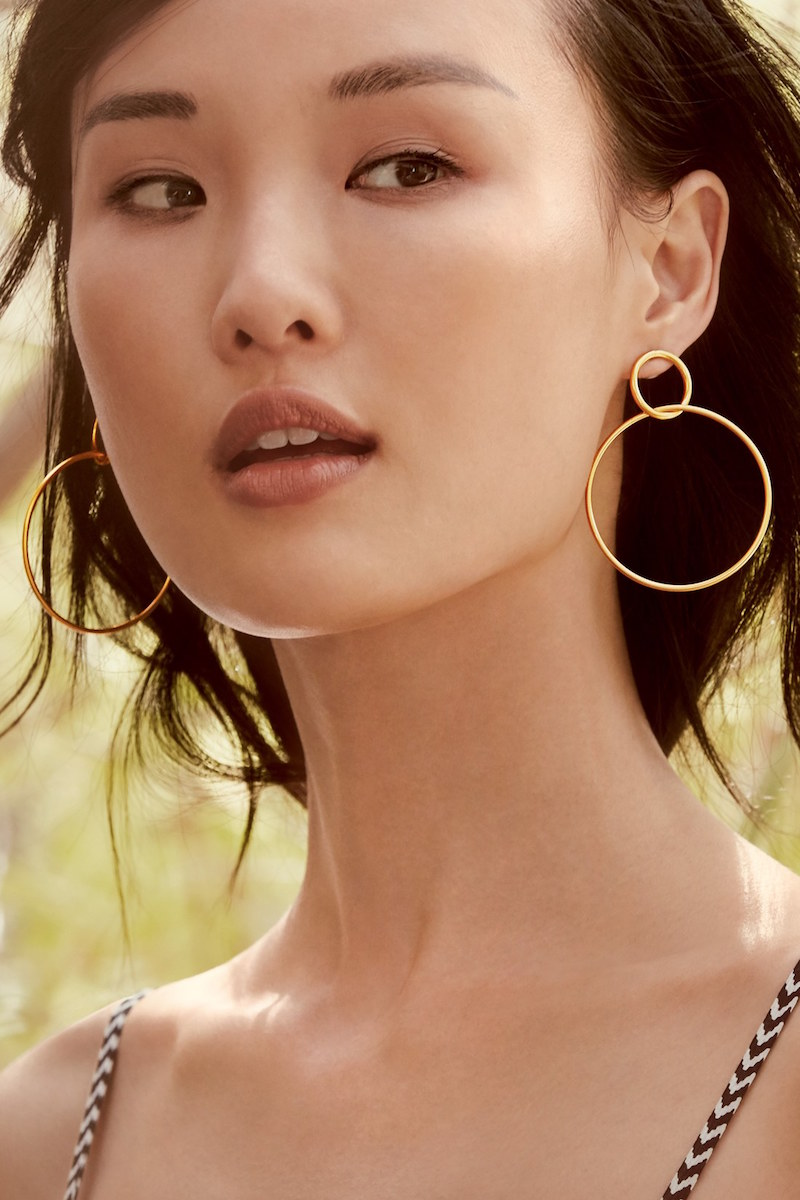 Nordstrom Double Wire Hoop Earrings