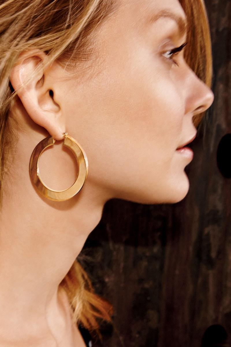 Nordstrom Flat Hoop Earrings