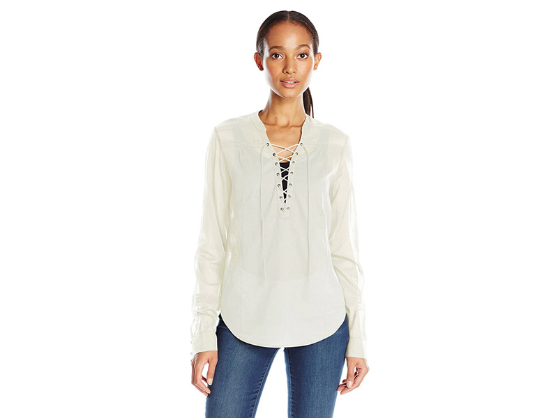 PAIGE Tansy Blouse White