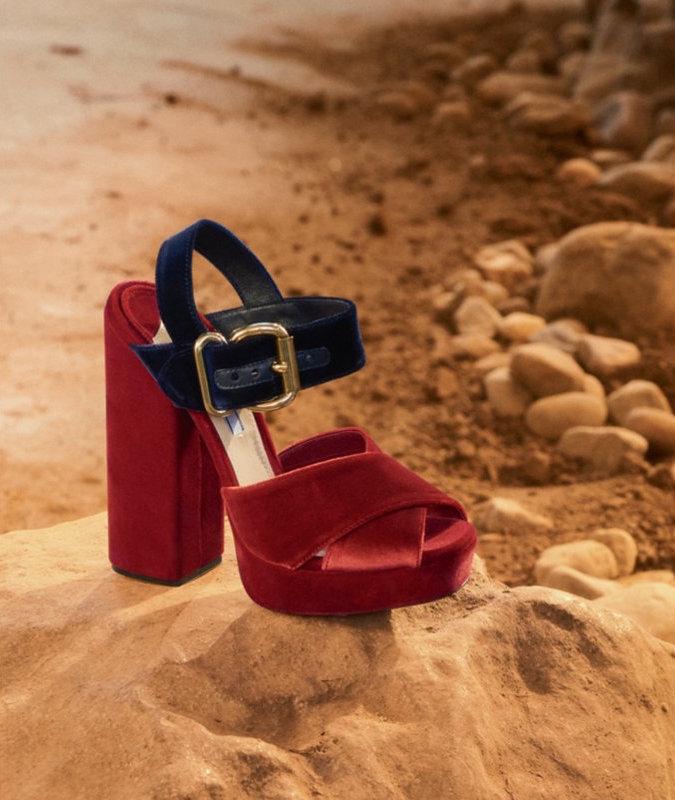 Prada Buckle Platform Sandal
