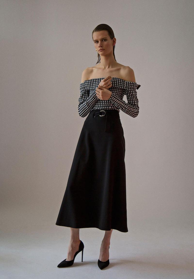 Preen by Thornton Bregazzi Sanet Long Wrap Over Skirt