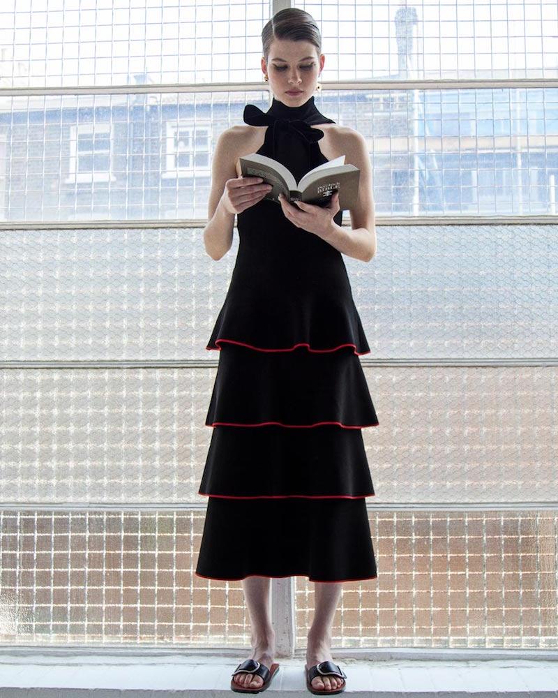 Proenza Schouler Long Tiered Ruffle Dress