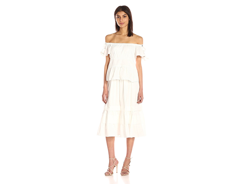 Rebecca Taylor Off-Shoulder Pop Dress
