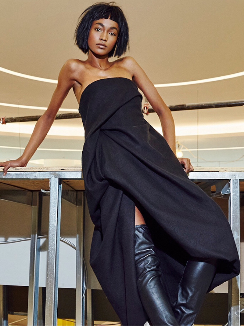 Rick Owens Wrapped Drape Dress