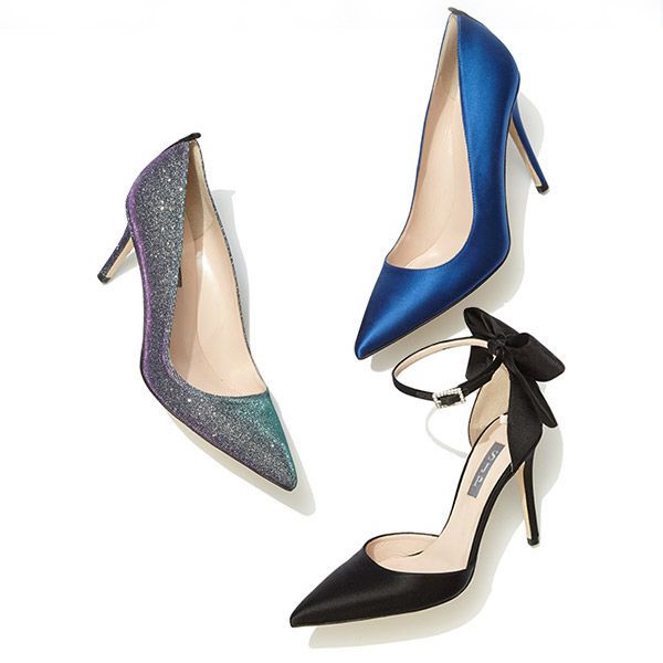 SJP by Sarah Jessica Parker Trance Satin Point-Toe Bow Pumps