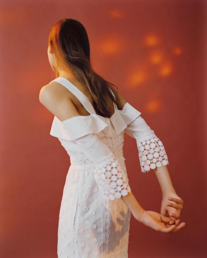 Self-Portrait Cold-Shoulder Medallion Maxi Dress