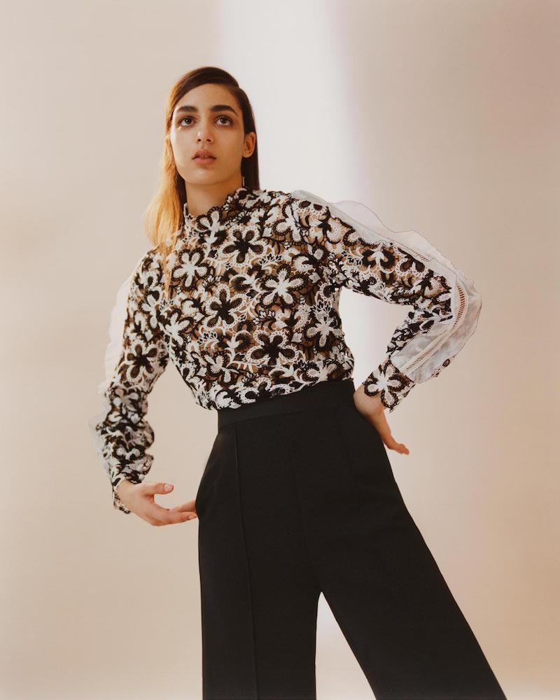 Self-Portrait Line Floral-lace Top