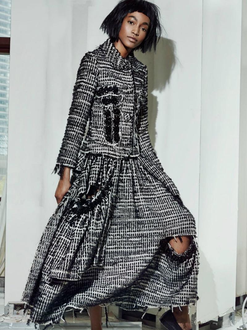 Simone Rocha Embellished Tufted Tweed Jacket