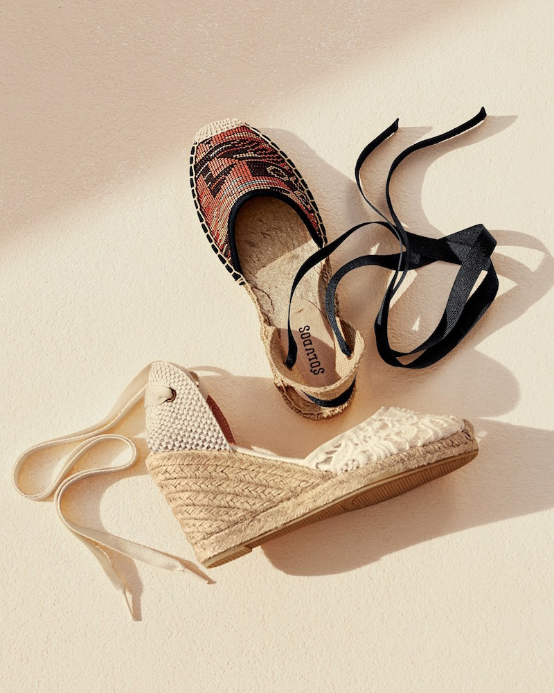 Soludos Lace Wedge Espadrille Sandal
