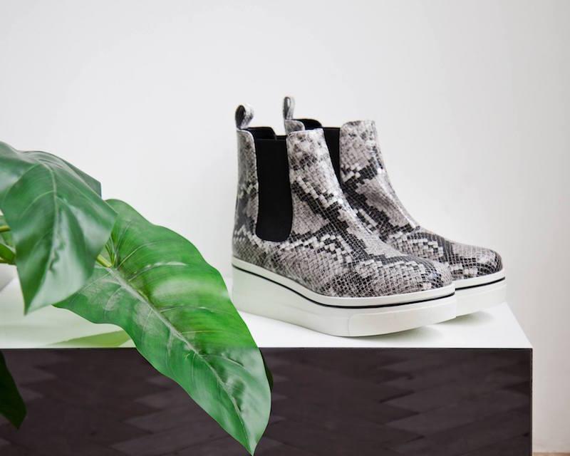Stella McCartney Binx Snake Print Platform Boots