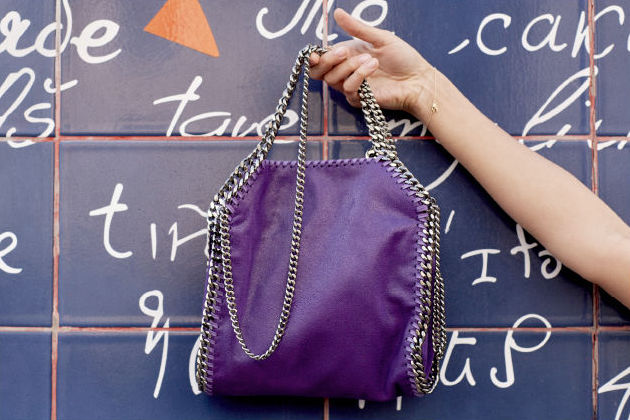 Stella McCartney Bright Purple Falabella Mini Tote