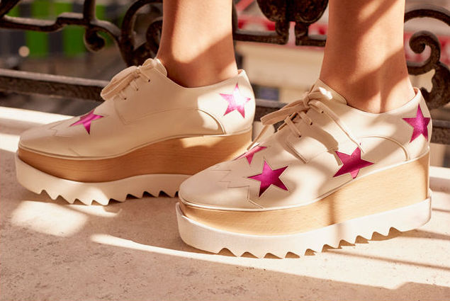 Stella McCartney Ivory Elyse Star Shoes