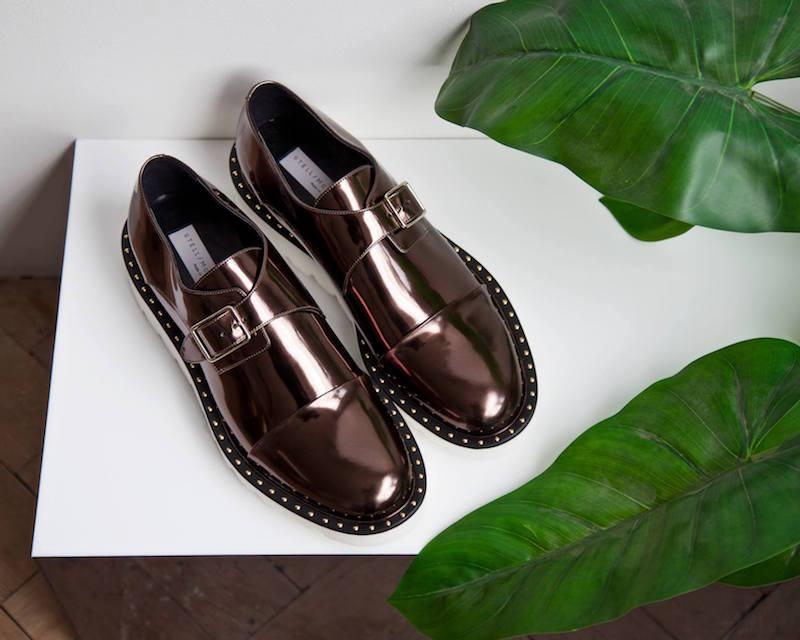 Stella McCartney Odette Metallic Brogue Shoes