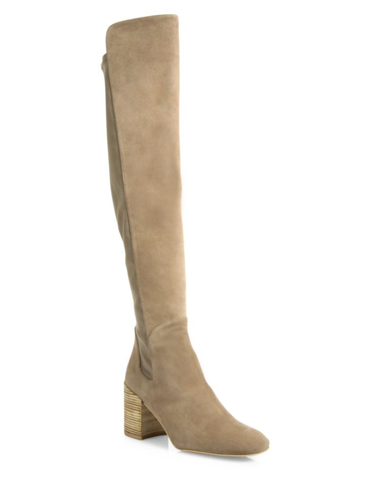 Stuart Weitzman Halftime 5050 Suede & Leather Knee-High Boots