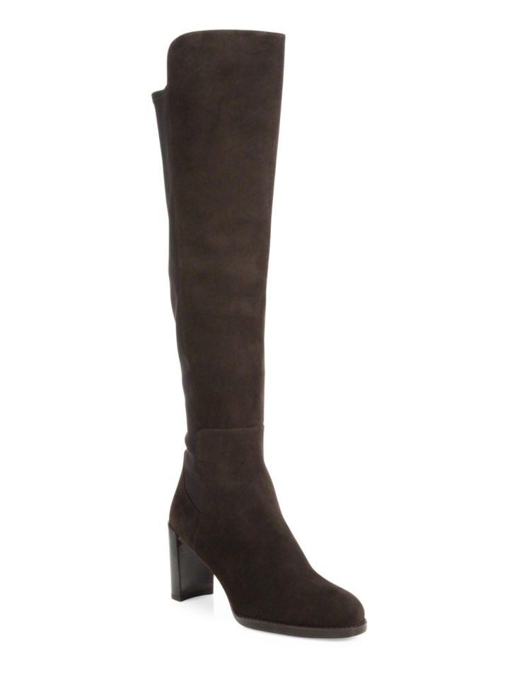 Stuart Weitzman Lowjack Suede Knee-High Boots