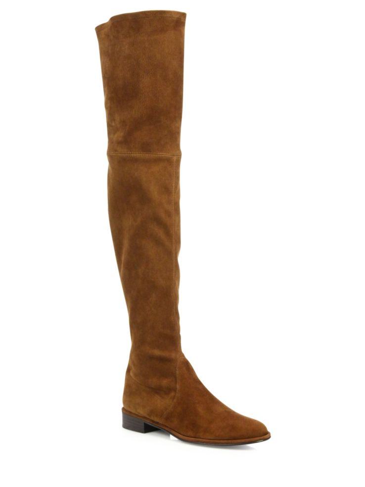 Stuart Weitzman Thighscraper Suede Boots