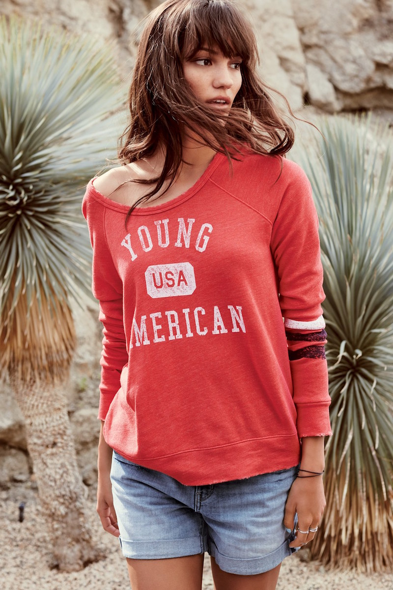 Sundry Young American Raglan Pullover