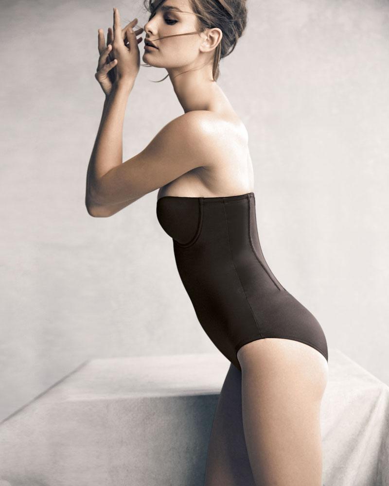 TC Shapewear Sheer Bodybriefer Strapless Shaping Bodysuit