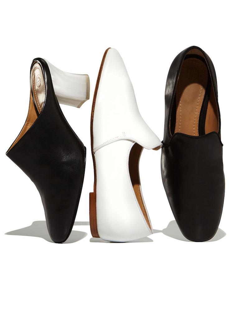 THE ROW Adela Leather Block-Heel Mule