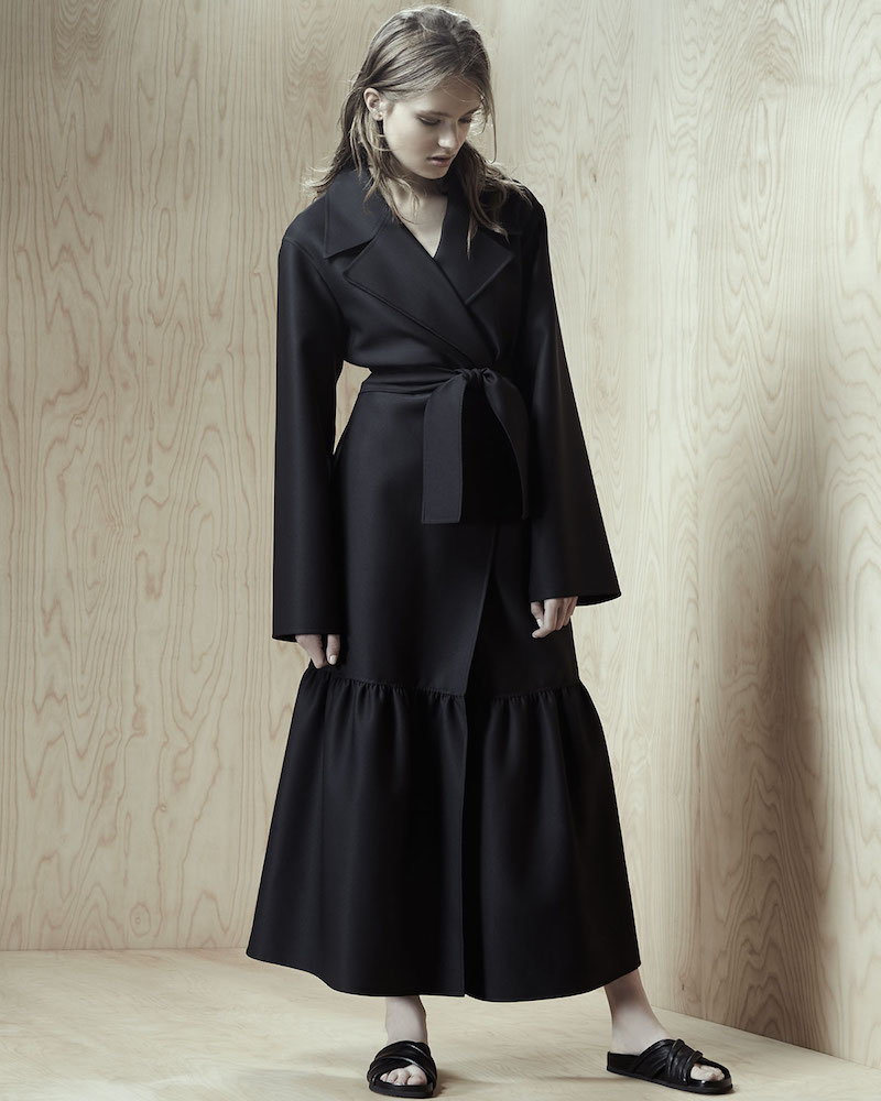 THE ROW Alexander Flounce-Hem Maxi Trench Coat