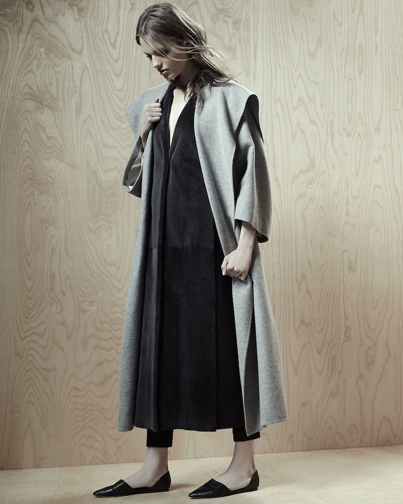 THE ROW Lanja Shawl-Collar Belted Coat_1