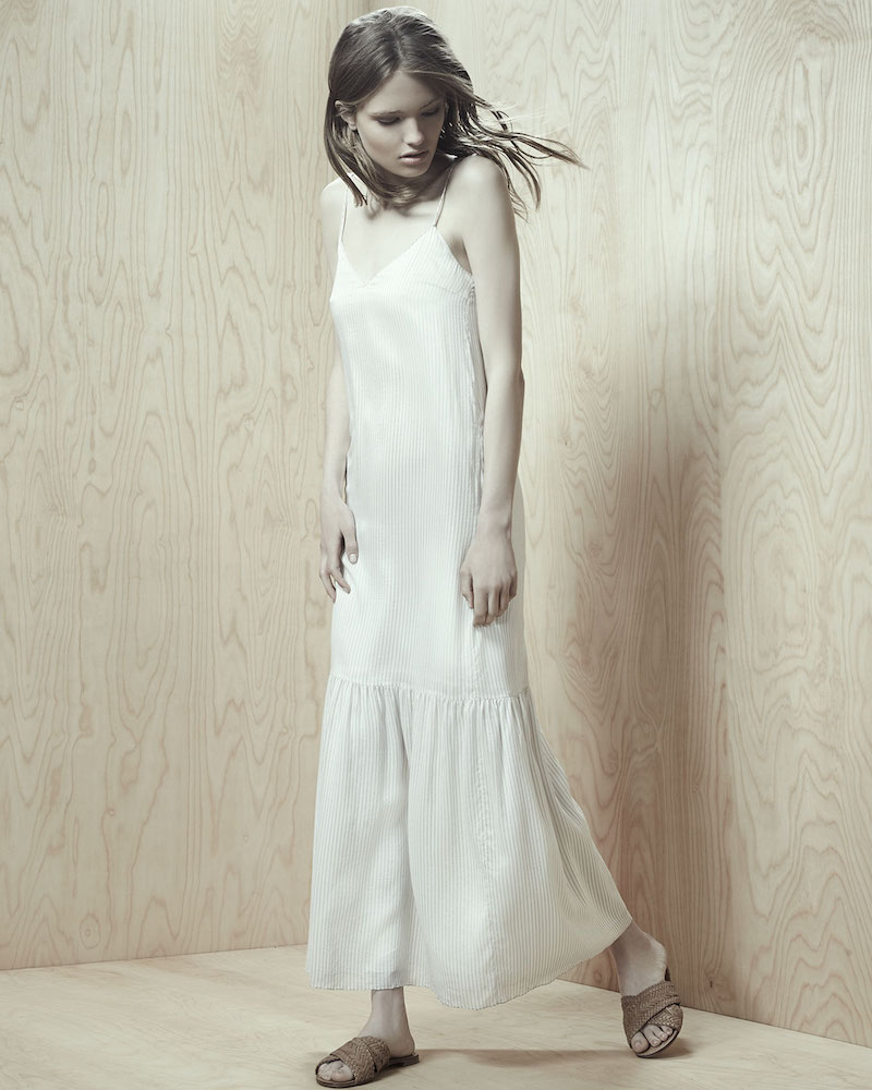 THE ROW Morin Striped Camisole Maxi Dress
