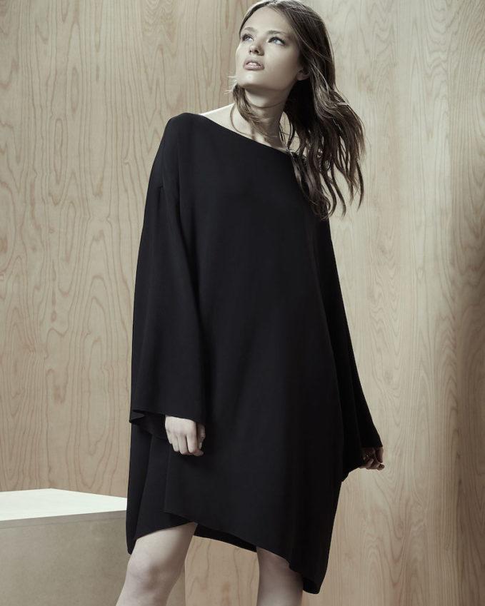 THE ROW Tharpe Long-Sleeve Easy Dress