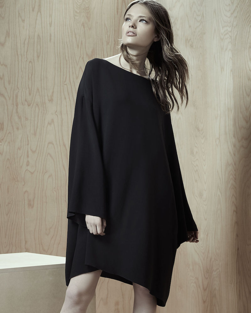 THE ROW Tharpe Long-Sleeve Easy Dress