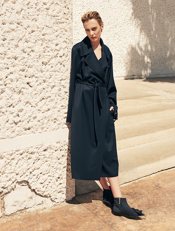 The Row Swells Belted Gabardine Coat