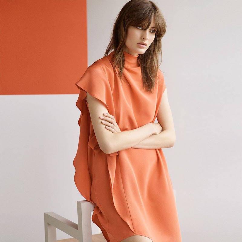 Topshop Boutique Asymmetric Waterfall Dress