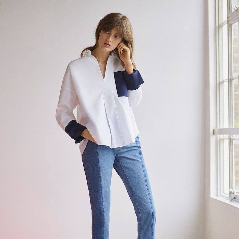 Topshop Boutique Contrast Oversized Shirt