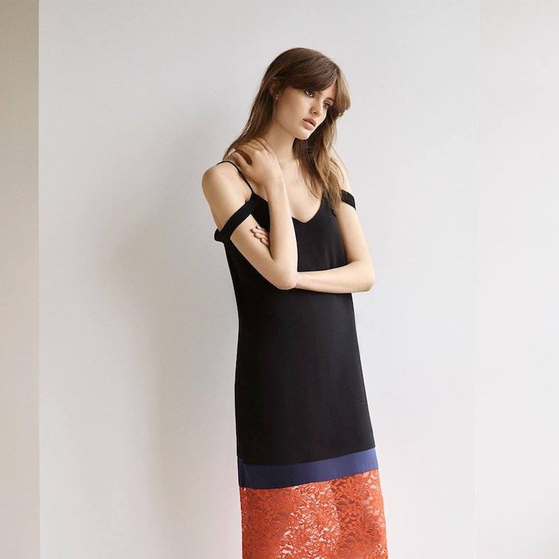 Topshop Boutique Lace Hem Slip Dress