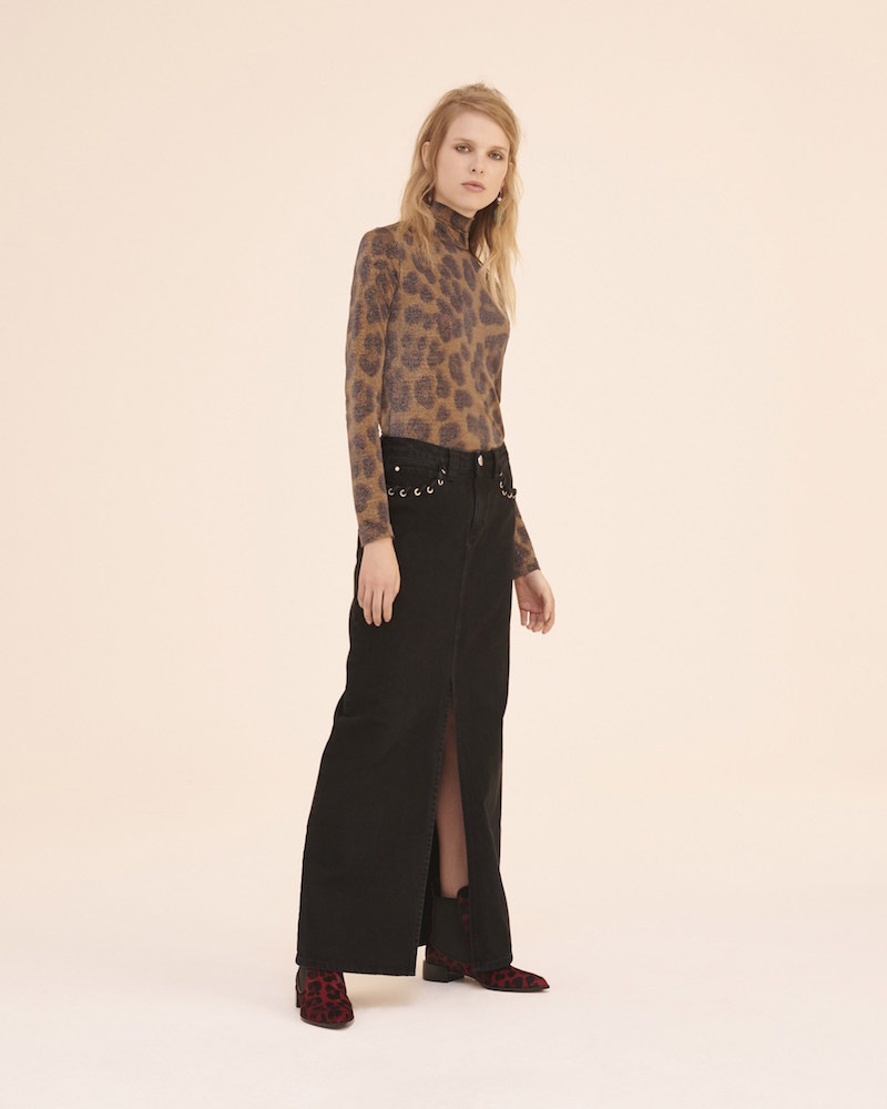 Topshop Unique Caius Denim Maxi Skirt