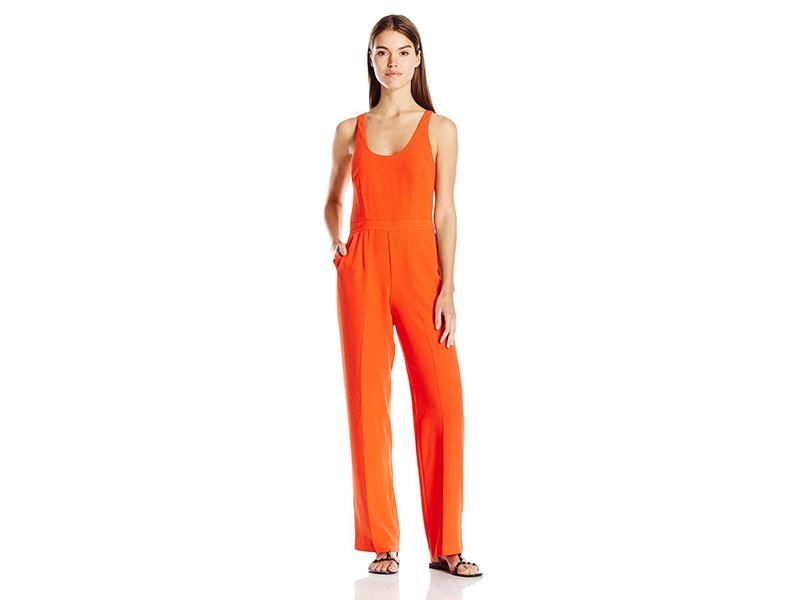Trina Turk Golda Classic Crepe Scoopneck Jumpsuit