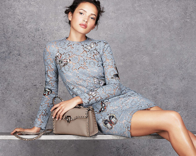 Valentino Butterfly Floral Lace Dress