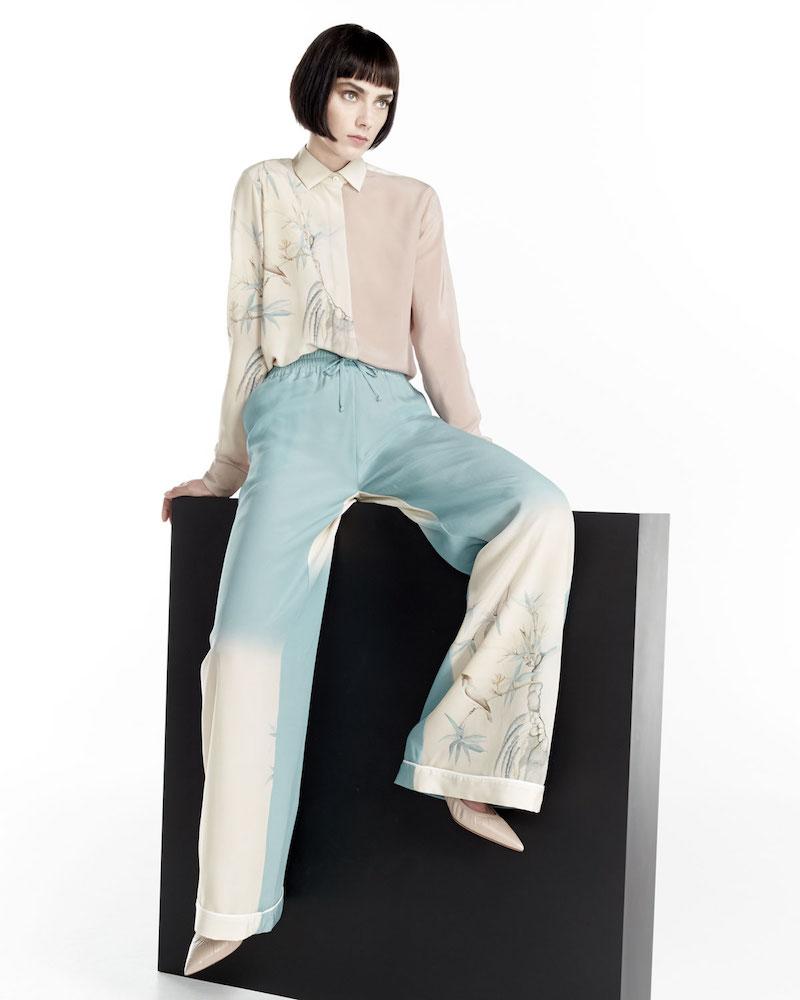 Valentino Degrade Printed Wide-Leg Pants