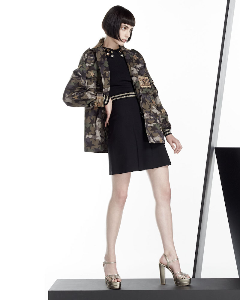 Valentino Star-Embroidered Camouflage Field Jacket