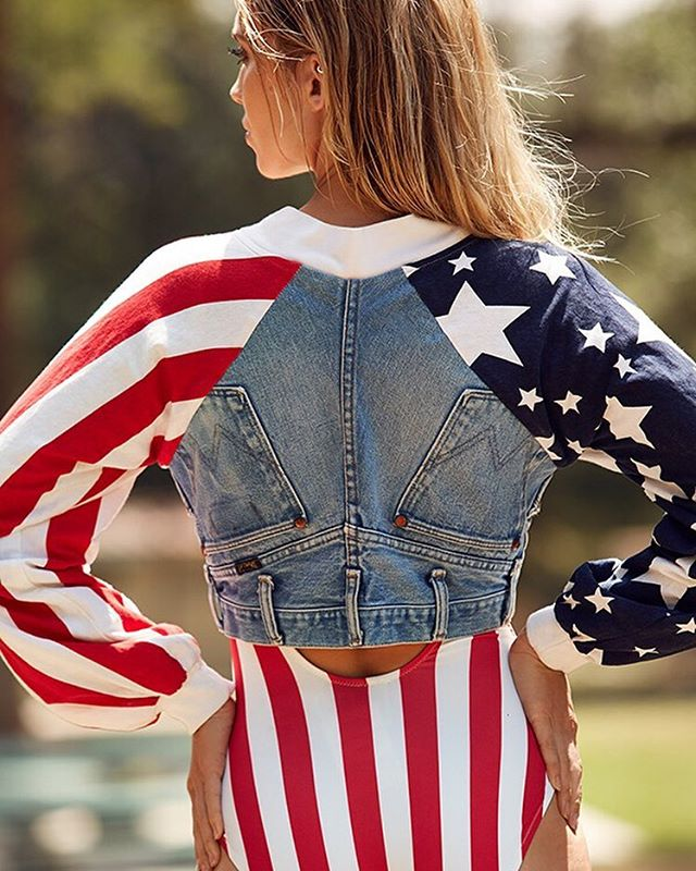 Vintage American Dream Cropped Jacket