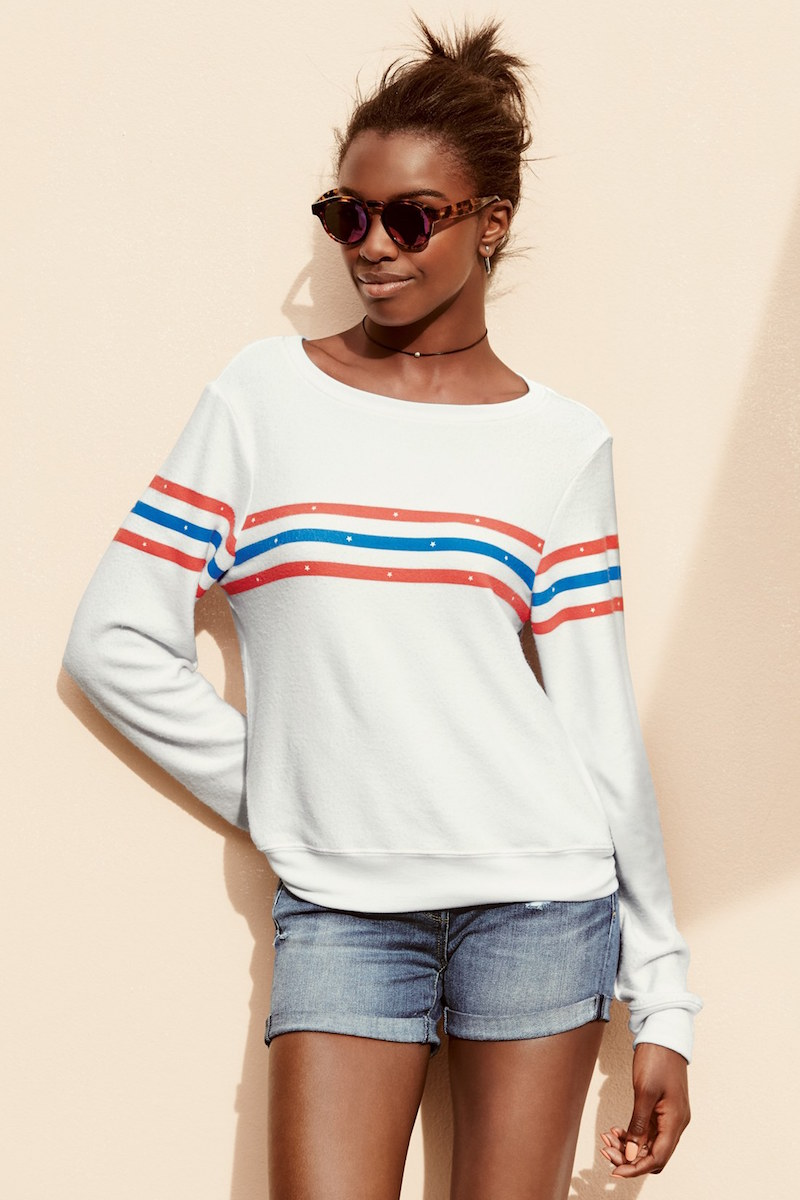 Wildfox US Gladiator Stripe Pullover