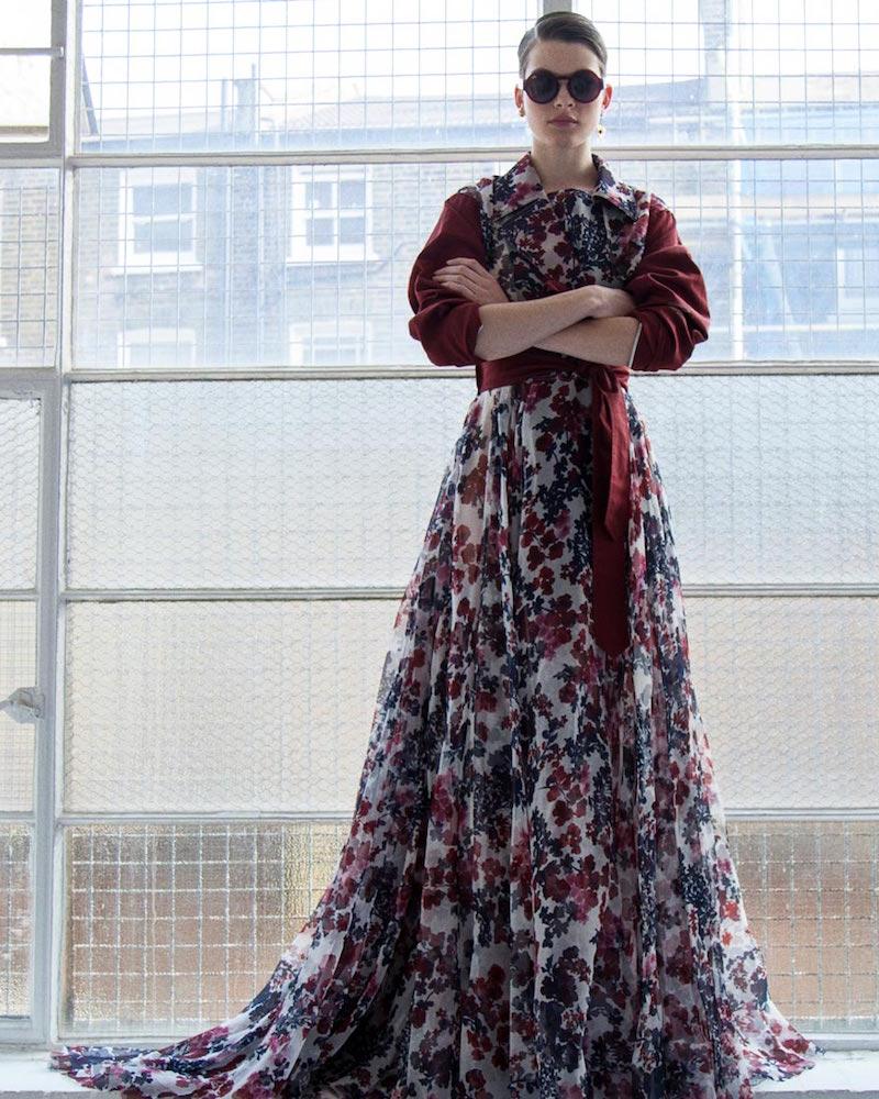 Yang Li Long Floral Couture Dress No.5