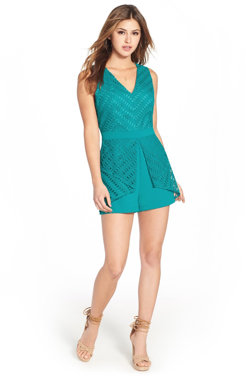 Adelyn Rae Layered Lace Romper