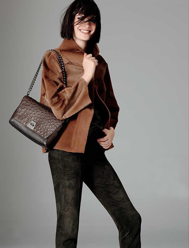 Akris Reversible Leather & Fur Jacket