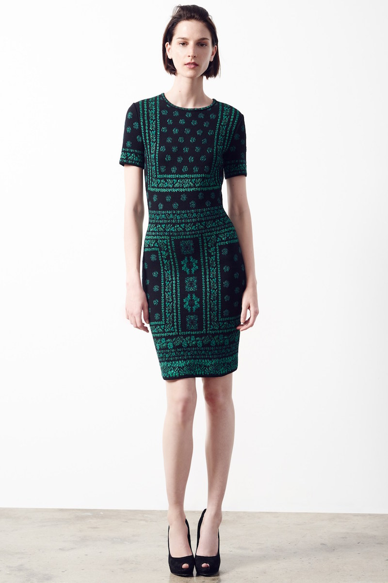 Alexander McQueen Jacquard Knit Sheath Dress