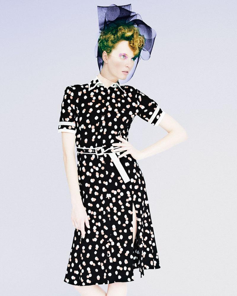 Altuzarra Ella Polka-Dot Short-Sleeve Shirtdress