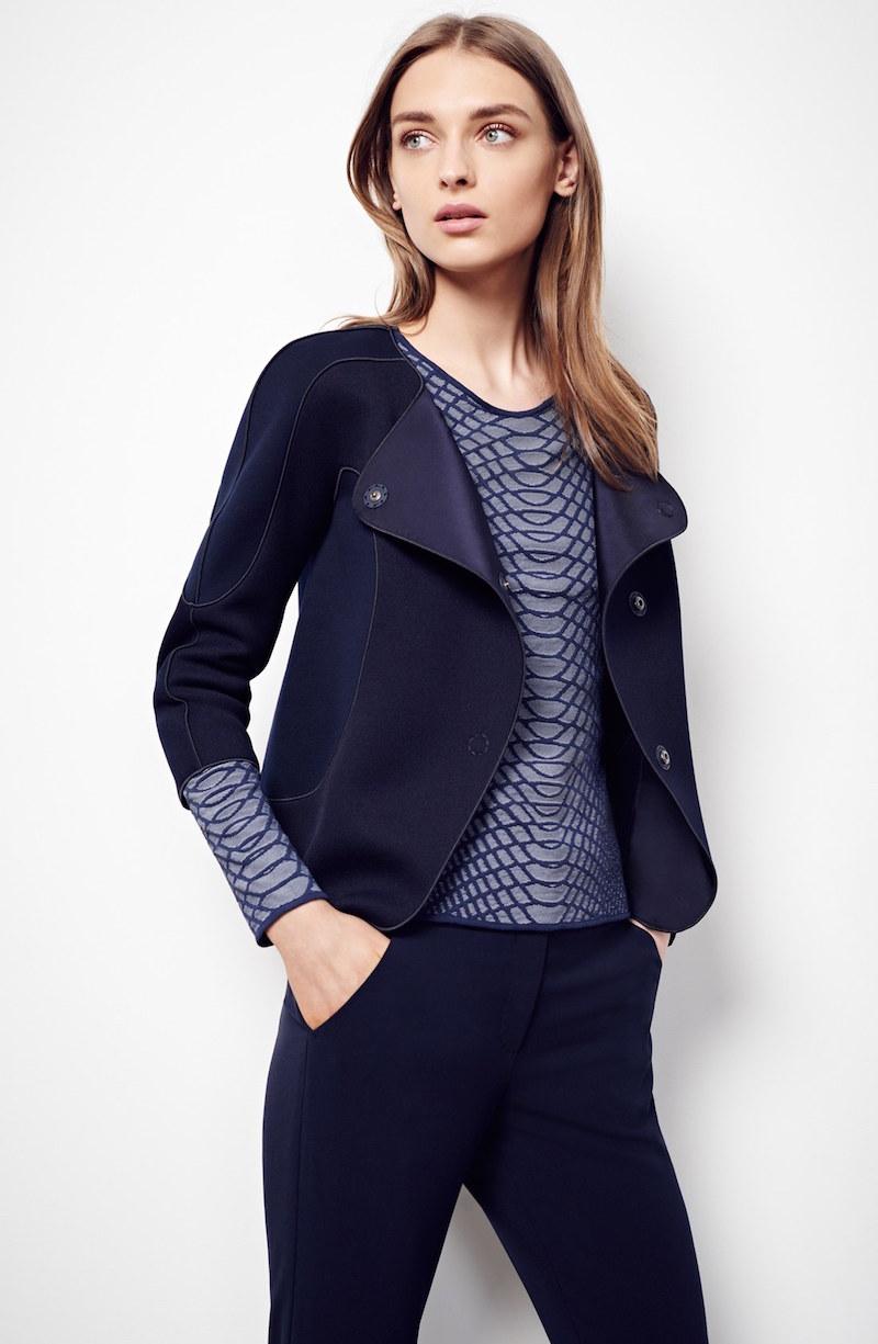Armani Collezioni Piqué Jersey Jacket