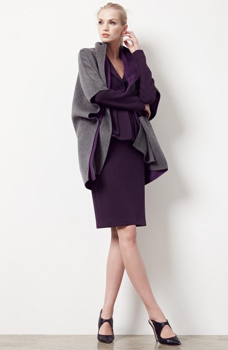 Armani Collezioni Reversible Wool & Cashmere Cape