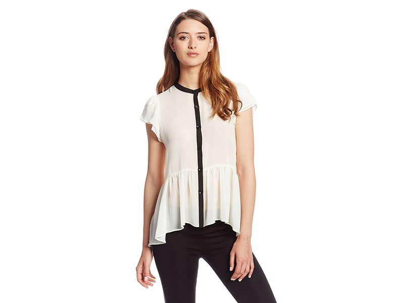BCBGeneration Flutter Sleeve Blouse